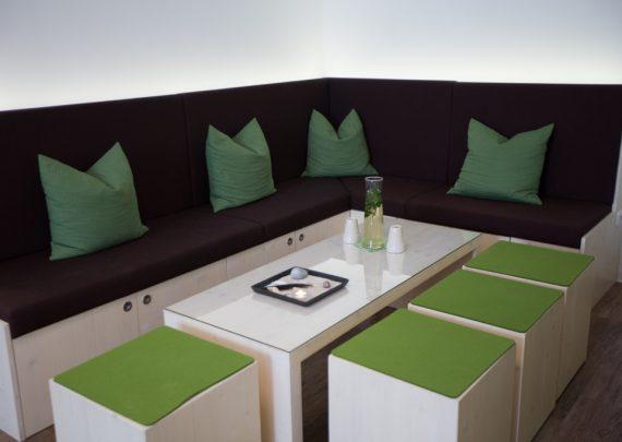 Unser Küchen und Sitzecke.